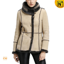 Women Leather Shearling Rancher Jacket CW640257