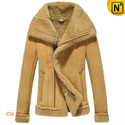 Women Shearling Lined Leather Jacket CW640106