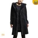 Hooded Shearling Coat for Women CW640210