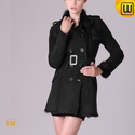 Women Black Shearling Winter Coat CW640280