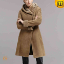 Long Shearling Coat for Women CW640239