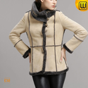 Women Vintage Shearling Jacket CW640257