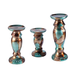 Elements Mottled Ceramic Candle Stands, 6-Inch/8-Inch/10-Inch, Set of 3