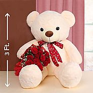 Send Teddy has Roses Same Day Delivery - OyeGifts