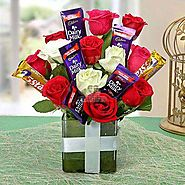 Buy / Send Perfect Choco Flower Gifts online Same Day & Midnight Delivery across India @ Best Price | OyeGifts