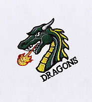 Angry and Fiery Dragon Embroidery Design | Machine Design | EMBMall