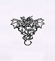 Fire Breathing Dangerous Dragon Embroidery Design | EMBMall