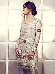 White Bridal Short Shirt by TENA DURRANI