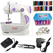 Hemdec 4 in 1 Mini Electric Sewing Machine With Thread Box - HMD-CMB06 | Sewing Machines - HomeShop18