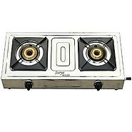 Surya Maze 2 Burner Manual Ignition Stainless Steel Gas Stove | Gas Stoves & Hot Plates - HomeShop18