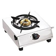 Apex Single Burner 1 Burners Manual Ignition Stainless Steel Top Gas Stove | Gas Stoves & Hot Plates - HomeShop18