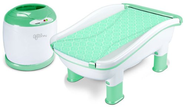 Baby's Journey Comfy Cozy Tub and Towel Warmer Set (Peacock)