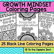 Growth Mindset Coloring Pages by To the Square Inch- Kate Bing Coners