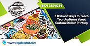 Customized Stickers Printing at Regaloprint