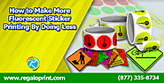 Customized Stickers Printing Services at RegaloPirnt