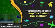 Fluorescent Wall Sticker in Kids Room - Customized Stickers Printing