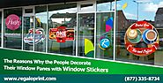 Decorate Window Panes With Window Stickers