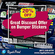 Get 20% off on Custom Stickers Printing at RegaloPrint