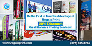 Banners Printing at 20% Discount - RegaloPrint