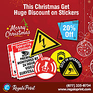 Get 20% Discount of Christmas on Custom Stickers Printing at RegaloPrint
