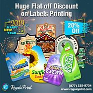 RegaloPrint offering 20% off on Labels this New Year