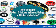 How To Make Oval Stickers