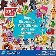 20% Huge Discount on Puffy Stickers with Free Shipment | RegaloPrint