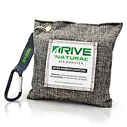 DRIVE Natural Car Air Freshener (Gray) - Best Auto Purifier is Certified Moso Bamboo Activated Charcoal 220g - Unscen...