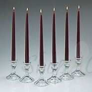 Shop Unscented Burgundy Taper Candles Wholesale At Shopacandle
