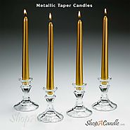 Online Metallic Taper Candles In Bulk Set Wholesale At Shopacandle