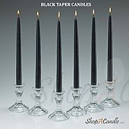 Black Taper Candles Bulk Set Of 144 Online At Shopacandle