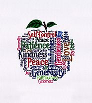 Apple Shaped Motivational Words Embroidery Design | EMBMall