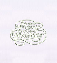 Artistically Wavy Merry Christmas Embroidery Design | EMBMall