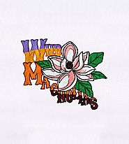 Beautiful Wild Pink Magnolia Flowers Embroidery Design | EMBMall