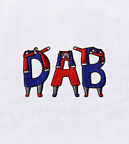 Crazy Dab Alphabets Embroidery Design | EMBMall