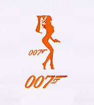 Richards Bond Girl 007 Embroidery Design | EMBMall