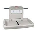 "Rubbermaid Commercial FG781888 Horizontal Baby Changing Station, 33.25"" Length x 21.5"" Width x 4"" Height, Light Platinum"
