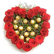 Send Heart Shape Love Online Same Day Delivery - OyeGifts.com