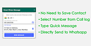 Send Whatsapp Message Without Contact Number Save - WhatsDirect