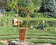 Wind harps will beauty to the landscape view with pleasant musical sound