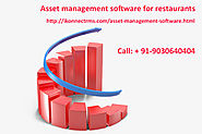 Asset management software for restaurants| Asset tracking software for Restaurant