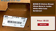 BONE IN Chicken Breast Whole Bone In Jumbo White 40Lb Case Sanderson - wholesale meat los angeles