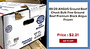 80/20 ANGUS Ground Beef Chuck Bulk Fine Ground Beef Premium Black Angus Frozen - Wholesale Seafood Los Angeles