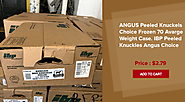 ANGUS Peeled knuckles choice frozen 70 average weight case. IBP peeled knuckles angus choice.