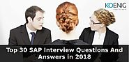 Top 30 SAP Interview Questions And Answers in 2018