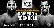 UFC 221: Romero vs Rockhold Live Stream (Pay-per-view) TV - UFC 221