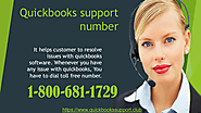 Dial QuickBooks customer support phone number 1-800-681-1729