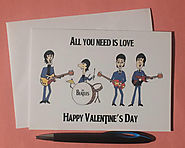 The Beatles Valentine's Day Card