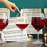 Major Scale Musical Wine Glasses - Set of 2 | Etched Red Wine Glasses, Music, tune | UncommonGoods