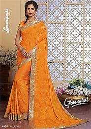 Buy satin silk sarees online at reasonable price From Laxmipati Sarees
